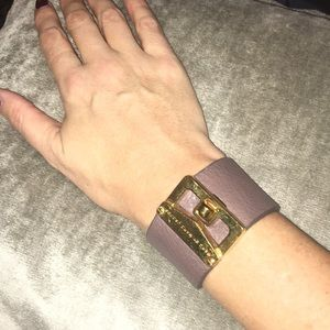 Marc by Marc Jacobs tan leather cuff